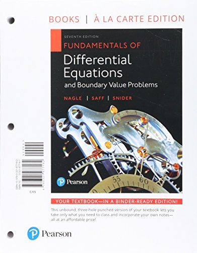 Fundamentals of Differential Equations and Boundary Value Problems, Books a la Carte edition, Plus MyLab Math with Pearson eText -- Access Card Package (7th Edition)