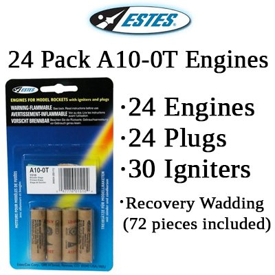Estes A10-0T Model Rocket Engines (24 pack)