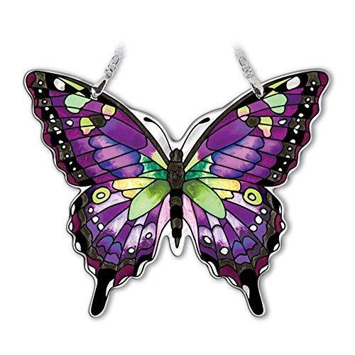 Amia Studios Purple Swallowtail Sun Catcher Amia Water Cut Glass 5 Inch by 6 Inch by Amia Studios
