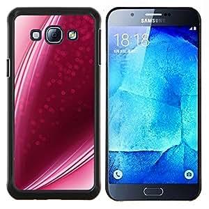 Púrpura Rosa caramelo Líneas fresa Amor- Metal de aluminio y de plástico duro Caja del teléfono - Negro - Samsung Galaxy A8 / SM-A800