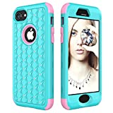iPhone 8 Case - iPhone 7 Case - Fisel Bling Rhinestone 3 IN 1 Armor Defender Shockproof Hybrid Sparkle Glitter Shinning Hard PC Soft Silicone Rubber Protective for iPhone 8 (2017) iPhone 7 (2016) 4.7