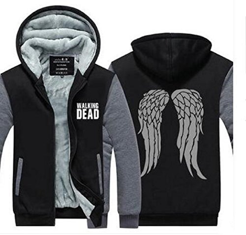 [The Walking Dead Daryl Dixon Wing Mens Coat Costume Thicken Jacket Hoodie] (Daryl Dixon Costumes)