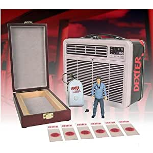 Dexter 3 3/4-Inch Figure with Blood Slide Box in Tin Tote