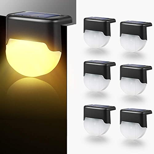 ZSZMFH 6 Pack Solar Deck Lights, Solar Step Light, Fence Post Lights , Auto On Off Outdoor LED Waterproof Lighting for Patio, Yard, Steps, Fence, Pathway