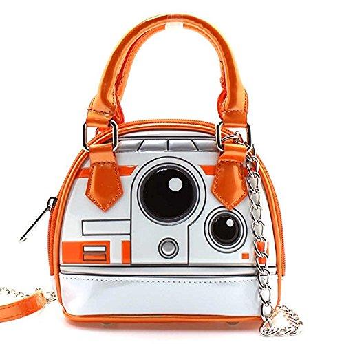 BB8 Wars White Loungefly in Mini Crossbody Orange Bag X Dome Star Micro AqqRwnEtZx