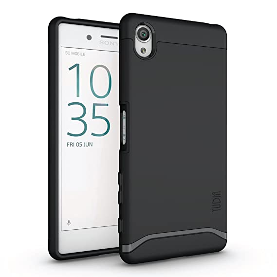 watch 1b36e 7fd43 Sony Xperia X Case, TUDIA Slim-Fit MERGE Dual Layer Protective Case for  Sony Xperia X (Matte Black)