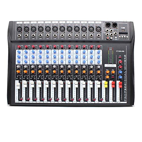 - Audio Mixer,TBvechi,12-Channel Professional Live Audio Mixer with Effects Processor Live Studio Audio Mixer,12 Channels Mixing Console with XLR, LINE Inputs,CT120S-USB,Immediate Electric Sound