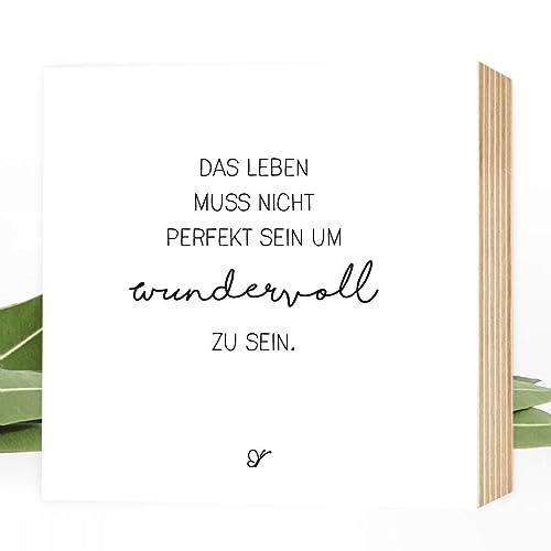 Wunderpixel Holzbild Wundervolles Leben 15x15x2cm Zum