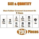 ISPINNER 190pcs Rubber Grommet Assortment Kit, 9