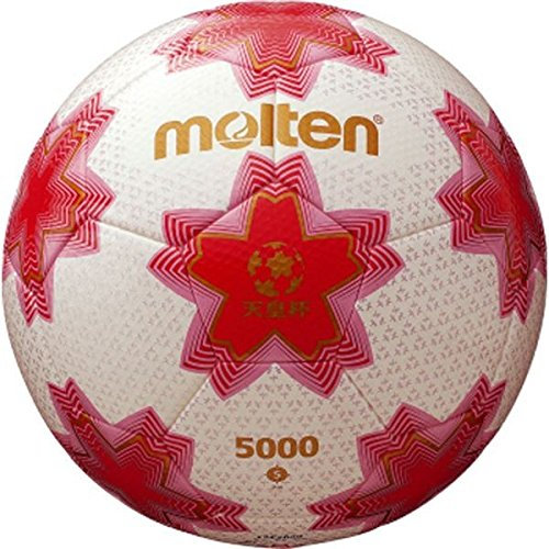 モルテン(Molten) サッカーボール5号球 天皇杯試合球 ホワイト×ピンク F5E5000 B07D1M2FZ5