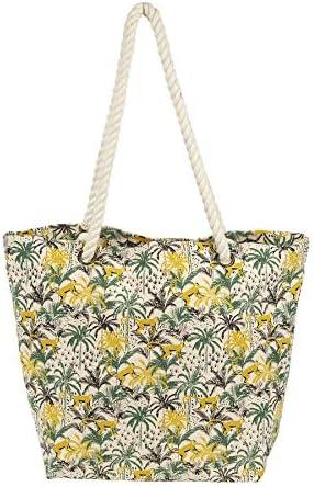 Sema - Bolsa de algodón con diseño de palma, multicolor, 47 x 17 x 34 cm