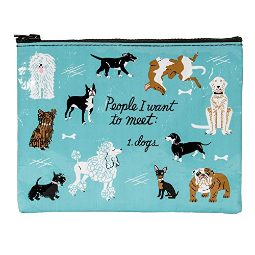 Blue Q Bags, Zipper Pouch, People I Want to Meet: 1. Dogs