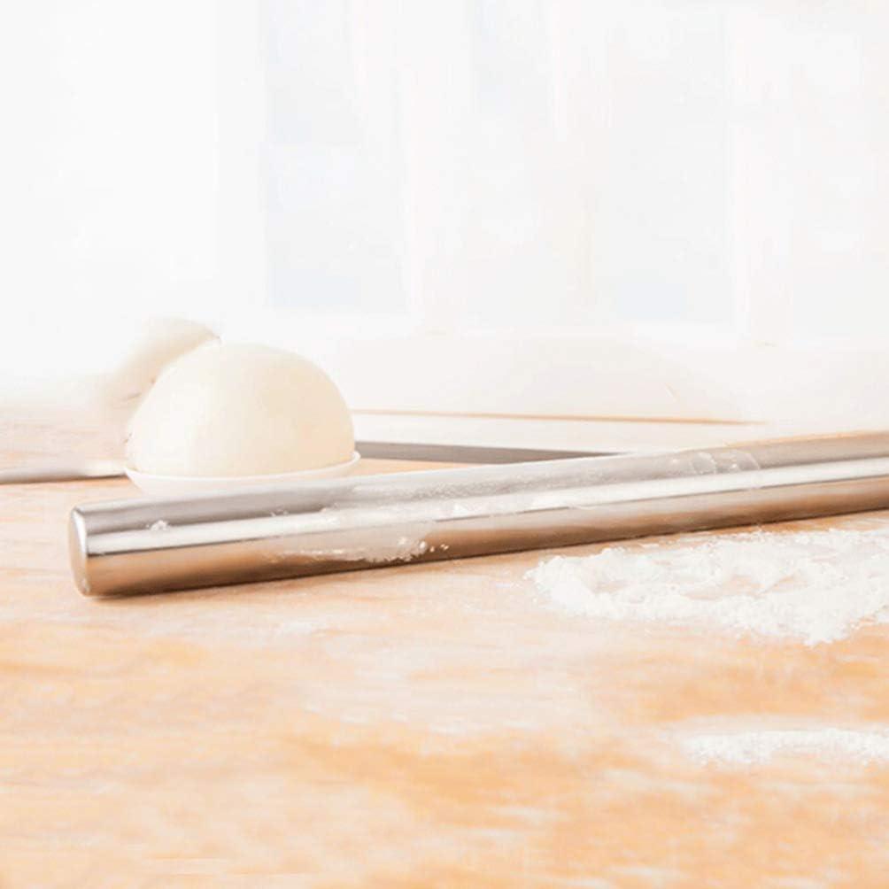 UPKOCH mattarello in Acciaio Inox gnocco Impasto Rullo avvolgitore Pasticceria Antiaderente Biscotto Fondente Pizza Pasta mattarello Utensili da Cucina