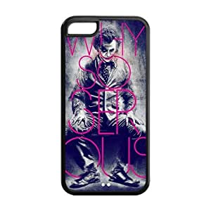 The Batman Joker Why So Serious Image Snap On Hard Plastic Iphone 5C Case