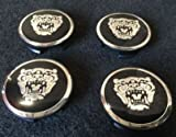 JAGUAR BLACK WHEEL EMBLEM BADGE SET OF 4, FITS ALL X-TYPE S-TYPE AND 2004-2008 XJ8