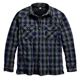 quilted plaid jacket - Harley-Davidson Men's Plaid Quilted 3M Thinsulate Shirt Jacket 96452-18VM (2XL)