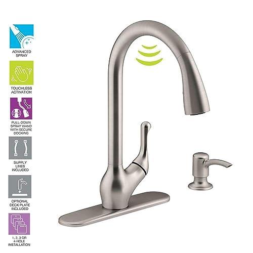 Kohler K-R78035-SD-VS Barossa Kitchen Sink Faucet, Vibrant Stainless