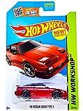 Hot Wheels, 2015 HW Workshop, '96 Nissan 180SX Type X [Red] Die-Cast Vehicle #205/250
