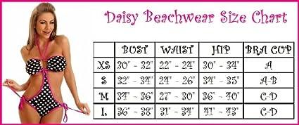 Daisy Beachwear Womens Pin-up Polka Dot Pucker Back Lace Bikini