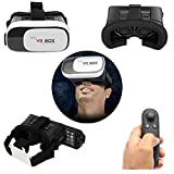 ShopAIS VR Box 2nd Generation Enhanced Version Virtual Augmented Reality Cardboard 3D Video Glasses Headset + Virtual Gaming Controller Compatible with 4.7-6 Inch Android, [iPhone 6, iPhone 6s Plus, Samsung Galaxy Note 5, S6 Edge etc.]