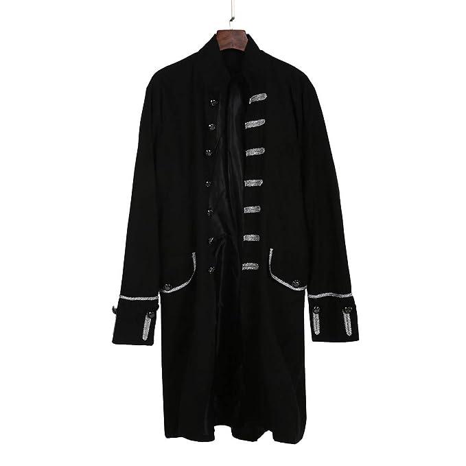 Abrigos de Hombre,Dragon868 otoño Primavera Hombres PFIFF gótico Vestido Uniforme Traje Praty Outwear(