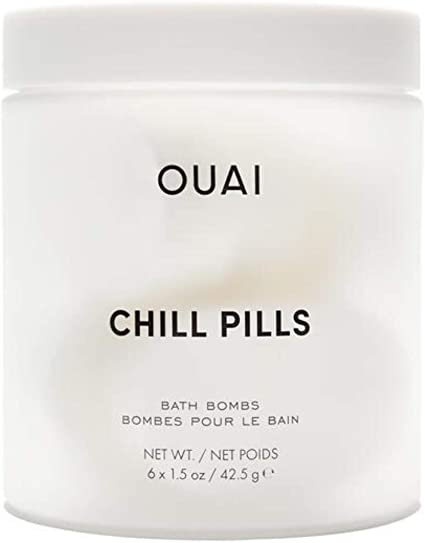 OUAI Chill Pills. Jasmine and Rose Scented Bath Bombs.