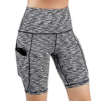 último diseño venta online última moda RISTHY Leggins Pantalones Cortos Yoga Correr Deportivos Mujer Mallas  Pantalones con Bolsillos Push Up Fitness Pantalones de Deporte Cintura Alta  ...