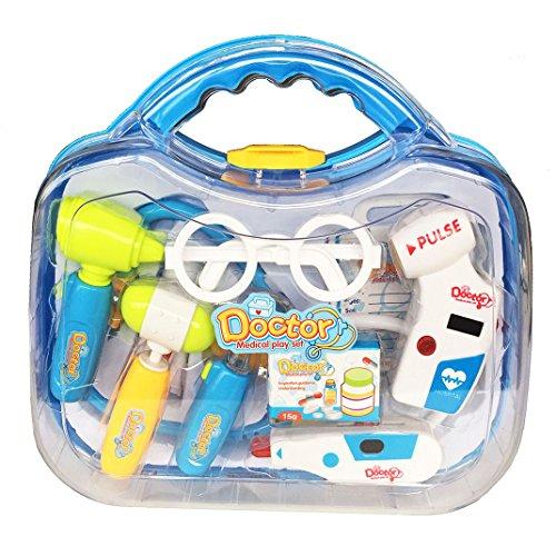 Pretender-Maletn-de-mdico-Juguetes-Kit-de-aprendizaje-de-regalos-Juegos-de-rol-Juegos-con-10-PCS-para-Nios-Nias-Edad-3-y-Up