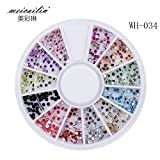 Sindy 1 Pack Nail Decoration Diamond 12 Color Nail Art Diamond Glitter 3D Nail Art Tools Decorations Rhinestones Jewelry Makeup Tools