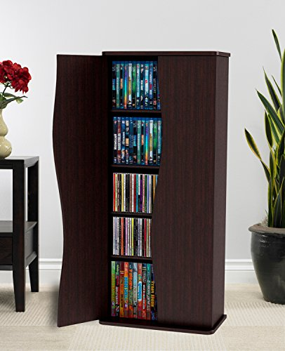 Atlantic 83035729 Venus 198 Media Cabinet - Tower Ray Storage Blu