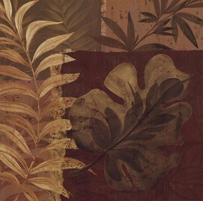 Tropical Foliage I by Pamela Gladding - 20x20 Inches - Art Print Poster (Pamela Gladding Tropical Foliage)