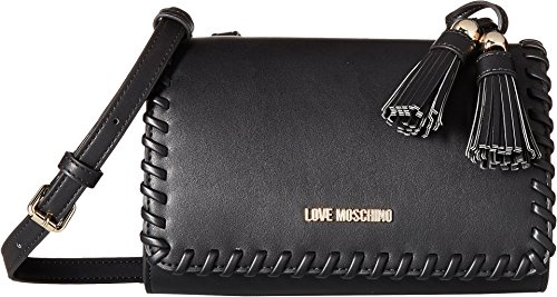 LOVE Moschino Women's Tassel Clutch Black One Size by Love Moschino