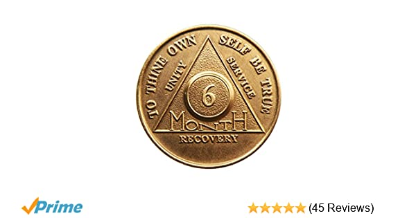 8 Month Bronze AA Medallion Alcoholics Anonymous Recovery Coin NA Chip