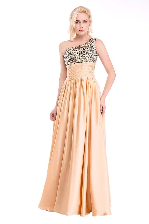Hot Queen Women's One Shoulder Leopard Print Corset Chiffon Long Prom Dresses 2016