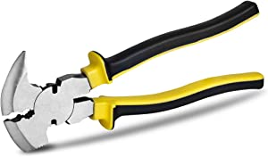 """10.5"""" Fencing Pliers Fence Tool Plier Multi Purpose Fence Pliers with Hammer End"""