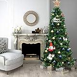 Tangkula Árbol de Navidad Artificial Material PVC 213cm Bisagra Decoración para Navidad Hogar Fiesta 1116 Ramas