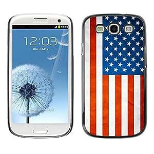 TopCaseStore / la caja del caucho duro de la cubierta de protección de la piel - USA Grunge Flag - Samsung Galaxy S3 I9300