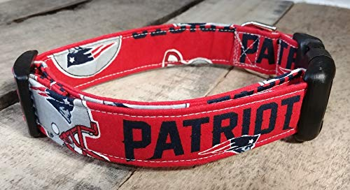 New England Patriots dog collar buckle or martingale with leash set option