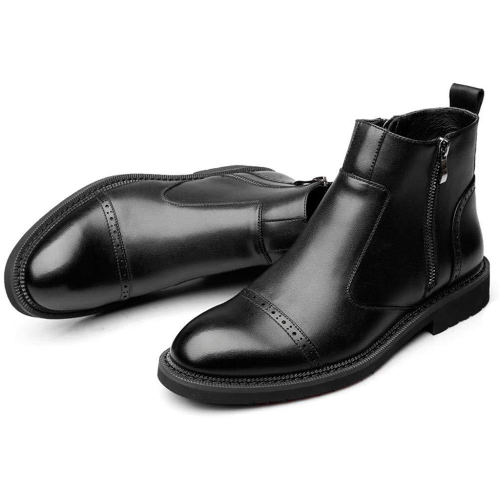 Herren schwarz Zip Zip Zip Leder Chelsea Stiefel Händler Smart Work Formale Casual Slip Auf Mid Ankle Stiefel Schuhe 39b3c8
