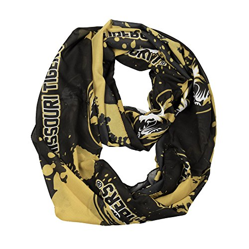 Tiger Scarf - Purchadise NCAA Silky Infinity Scarf with Spatter Design (Missouri Tigers)