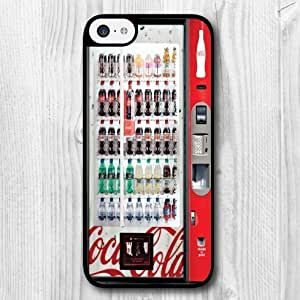 For iPhone 5C Case,Funny Design Vending Machine Pattern Protective Hard Phone Cover Skin Case For iPhone 5C +Screen Protector