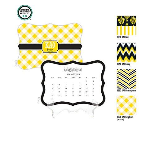 Kappa Alpha Theta Personalized Desk Calendar / 2017 Calendar / Personalized Calendar / Monogrammed Desk Calendar / KAT Big Little / Rush Gift, 2016 Calendar, Sorority Calendar - Kappa Alpha Theta Lilly Pulitzer