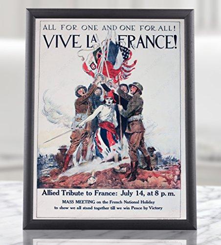 ww1プロパガンダポスターベルダン1916Victory–Vive La France–Battlefield Apocalypse 1914–1918ソンムフランスヨーロッパ第1次世界大戦Iフレーム額なしMilitary Decor American AlliedヴィンテージMilitaria Army 8.3x11.7