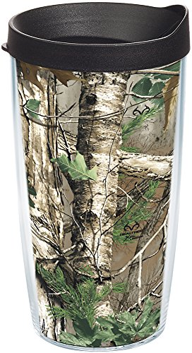 Tervis 1106296 Realtree - Xtra Green Knockout Tumbler with Wrap and Black Lid 16oz, -