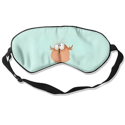 Cómoda máscara de dormir con diseño de búho de pájaros para viajar, noche, mediación