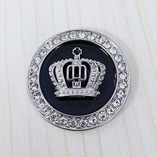 Crystal Princess Crown Car Emblem, Car Exterior & Interior Bling Car Accessories, Car Decoration Decal Sticker, Car…