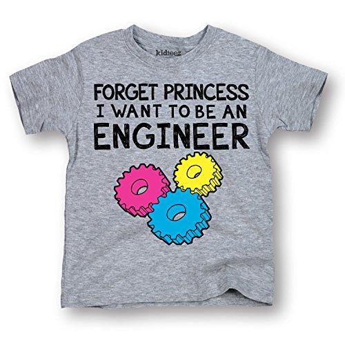 Forget Princess, Engineer -TODDLER SHORT SLEEVE TEE-2T (Short Engineer T-shirt Sleeve)
