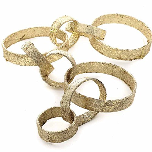 Midwest Gloves Set of 2 Sparkling Gold Chain Link Garlands for Home Decor and Decorating