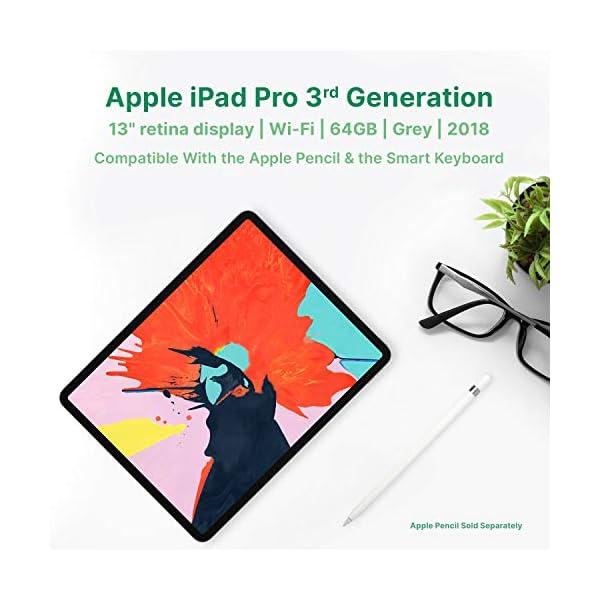 "Apple iPad Pro | 13"" | 3rd GEN | WI-FI | 64GB | Gray | 2018 | (Renewed) 3"