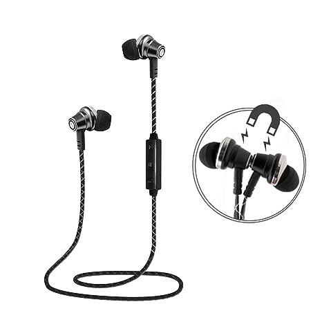 Lauson Auriculares Deportivos Bluetooth Inalámbricos Universales, Cascos Magnéticos, Manos Libres Estéreo con Micrófono,